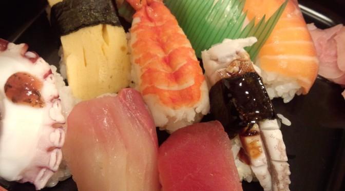船場センタービルのお手頃価格な寿司ランチ