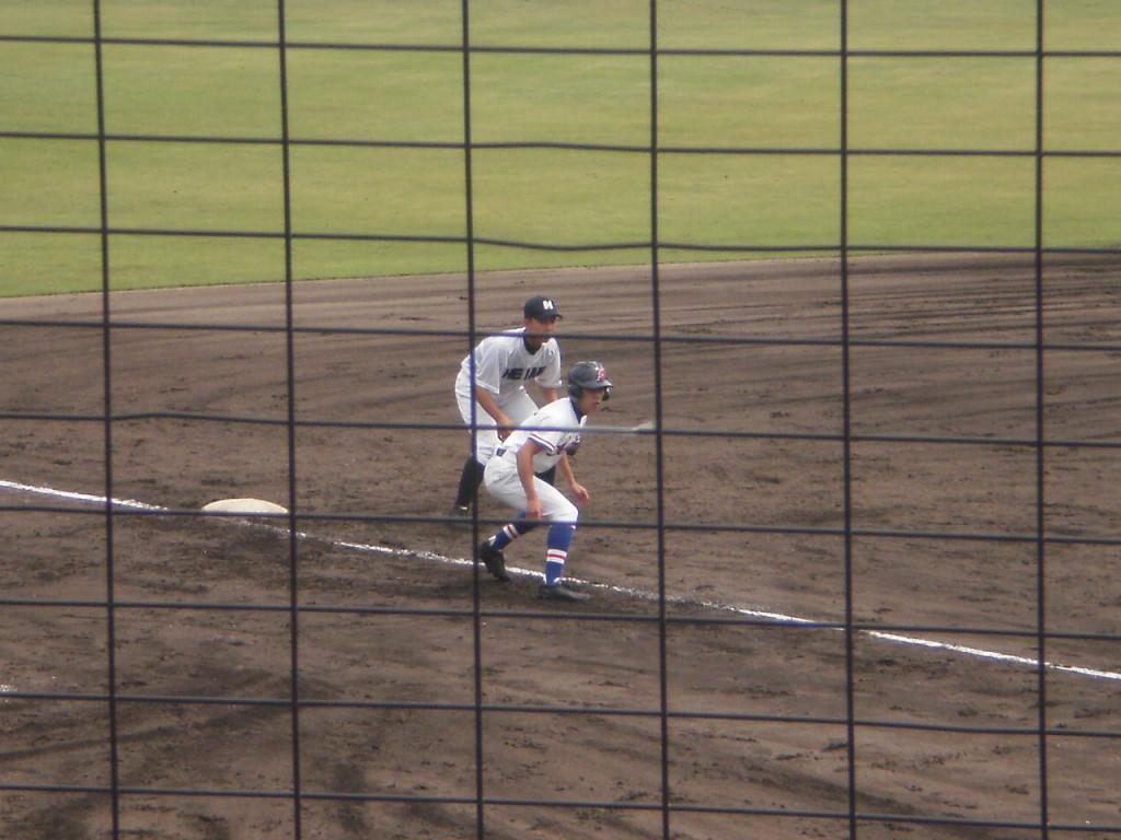 3塁打の大内選手