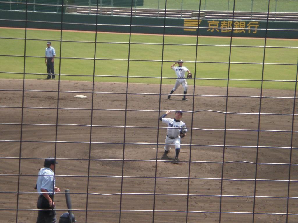 平安2番手の大野投手