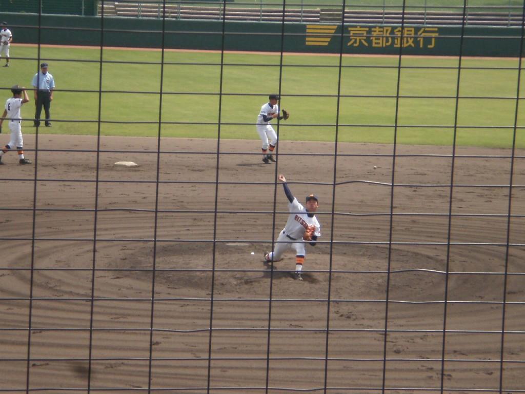 立命館3番手のエースナンバー西成投手
