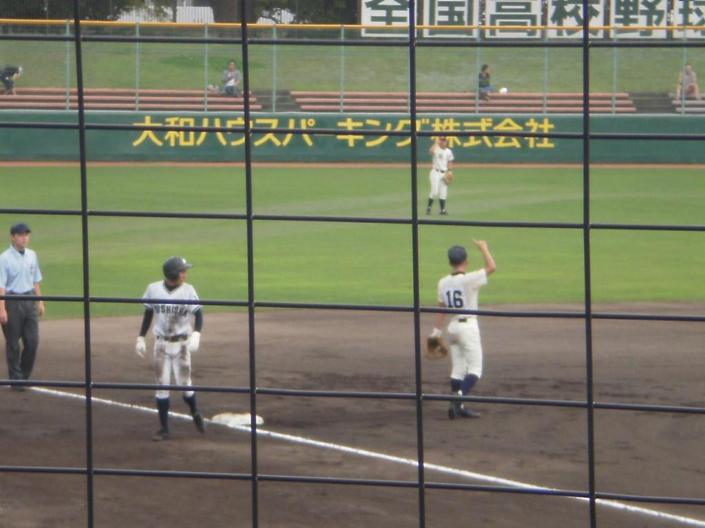 三塁打の鶴尾選手