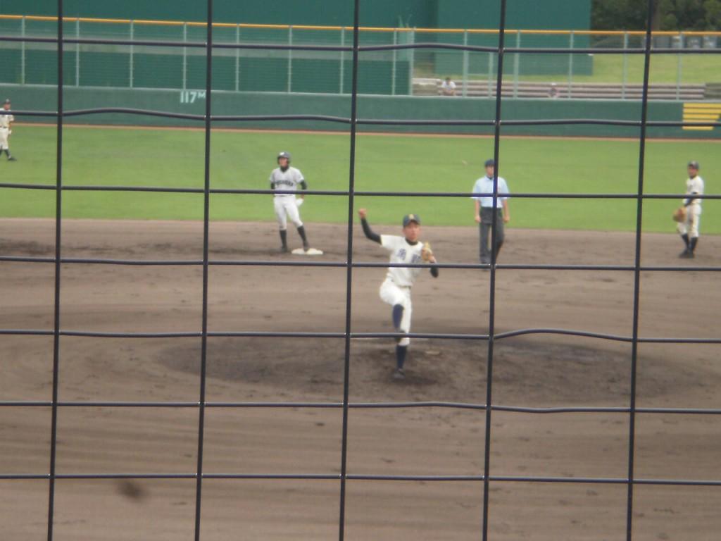 網野2番手の池田投手