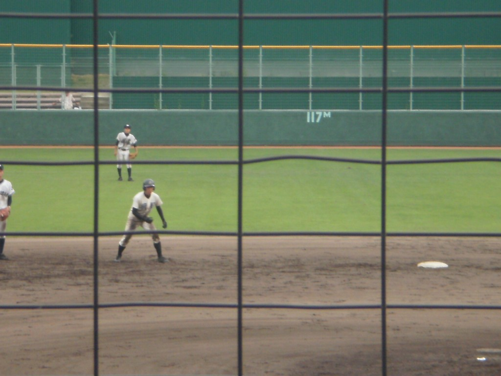 主砲米田選手の勝ち越しタイムリー2塁打