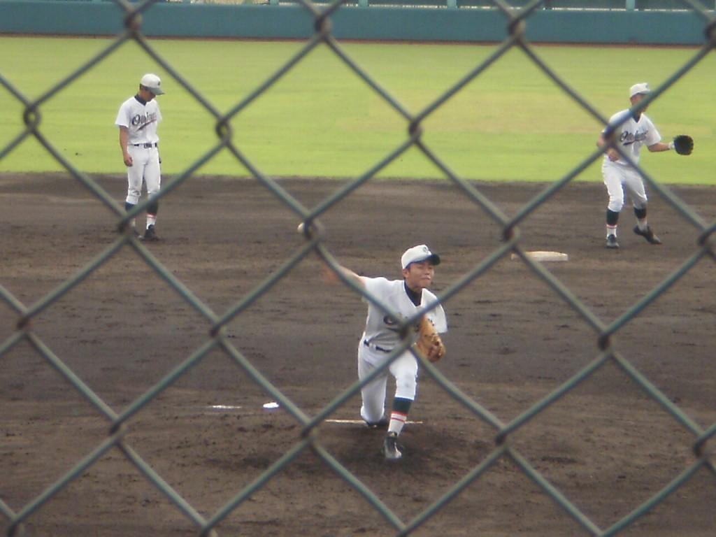乙訓2番手は坂田投手