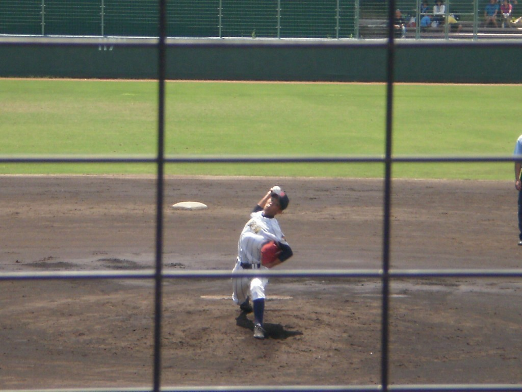 城南菱創のエースナンバー波多野投手