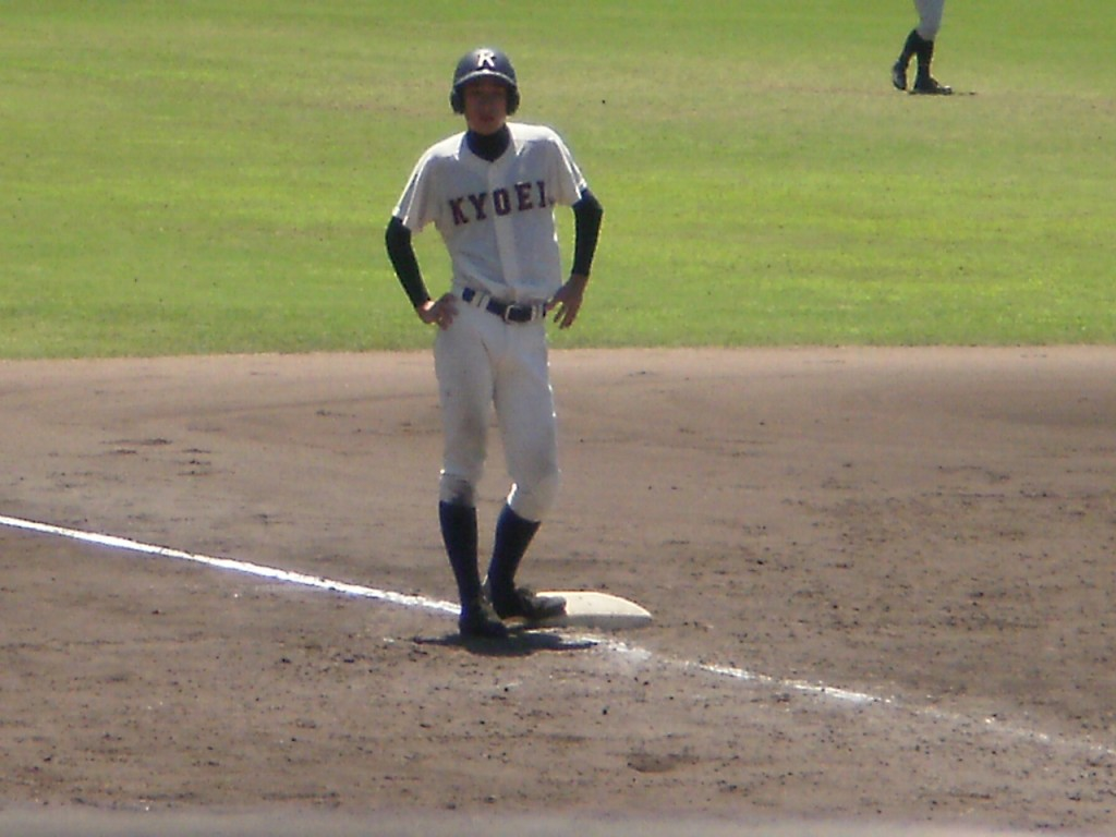 タイムリー3塁打の菅田選手
