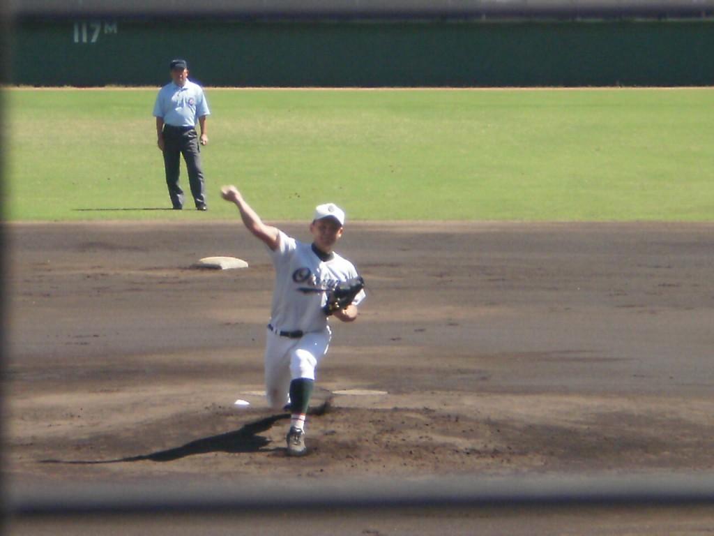 乙訓の2年生エース上野投手
