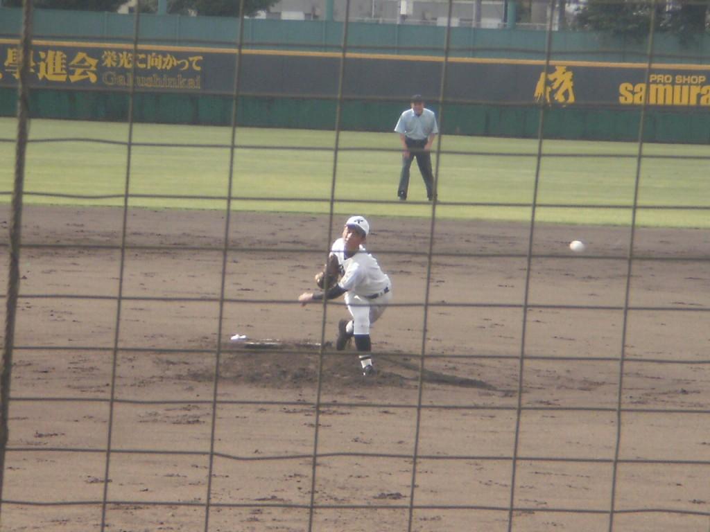 京都学園エースの藤本投手