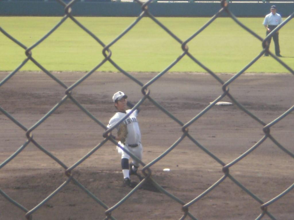 日星エースの波多野投手