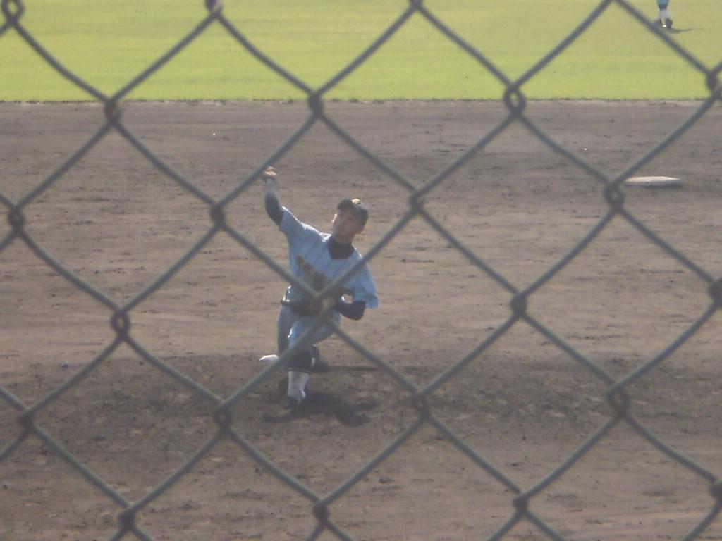 廣学館2番手の前野投手