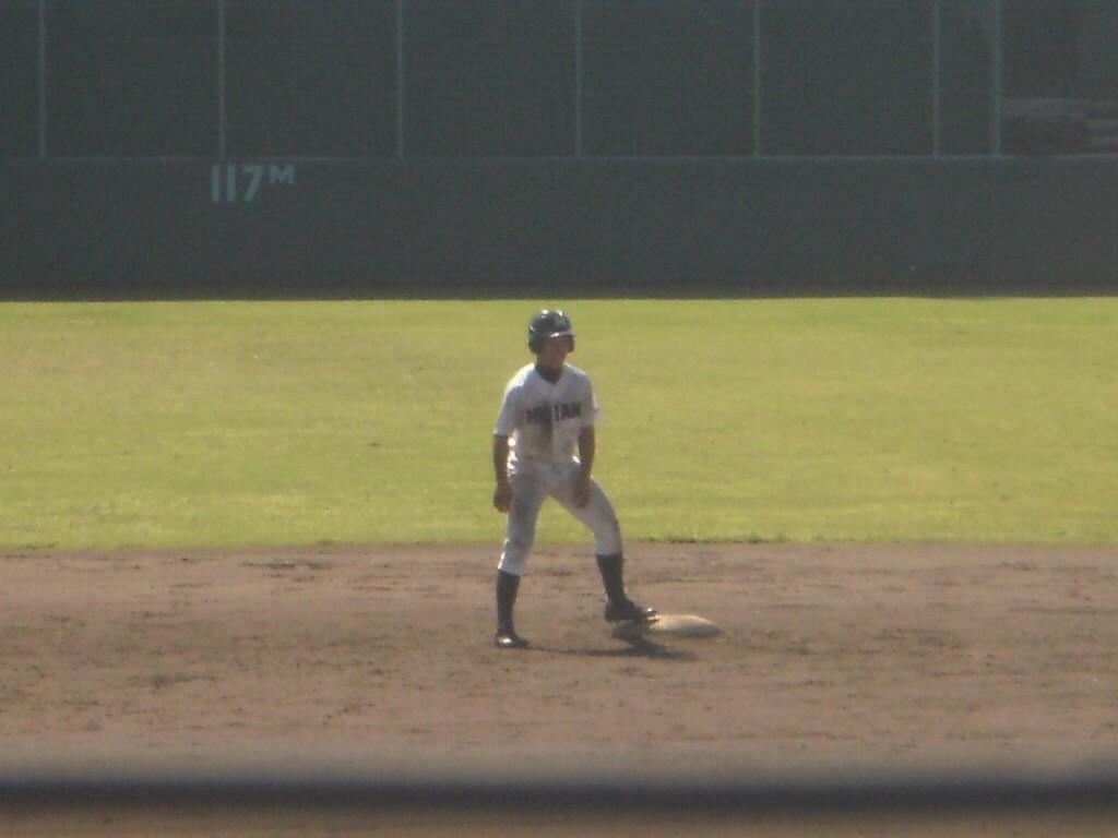 2点タイムリーヒットの久保田選手