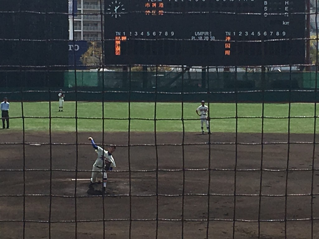 神戸国際大附エースの平内投手