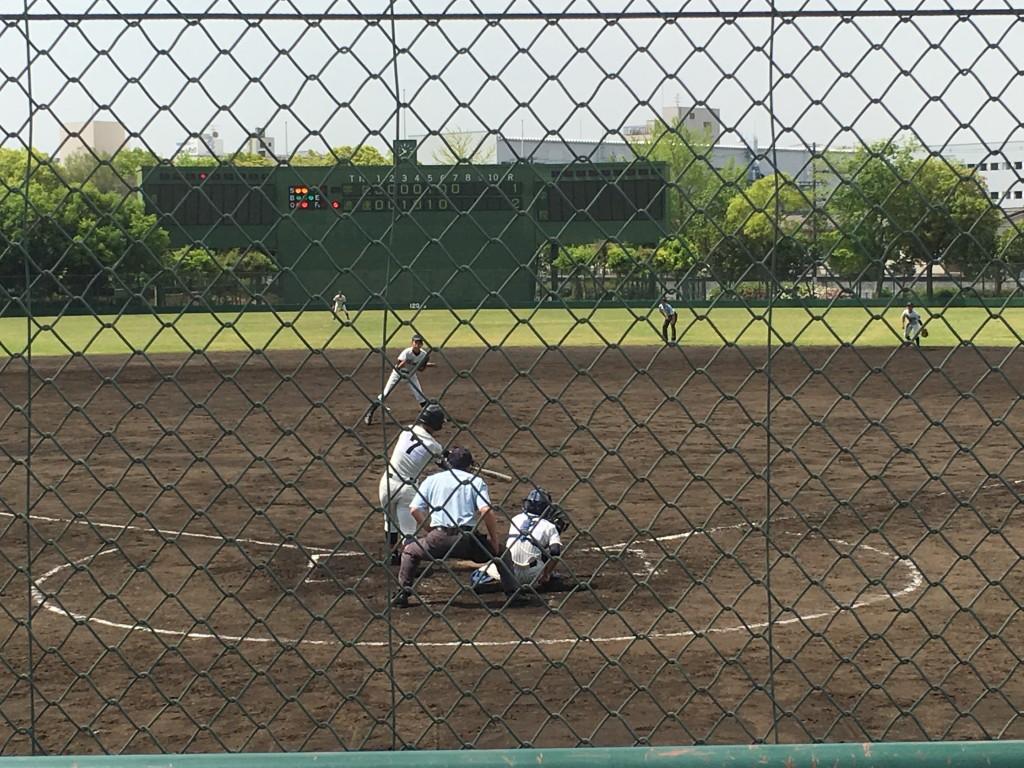 大阪学院大高エースがピンチで2者連続三振!
