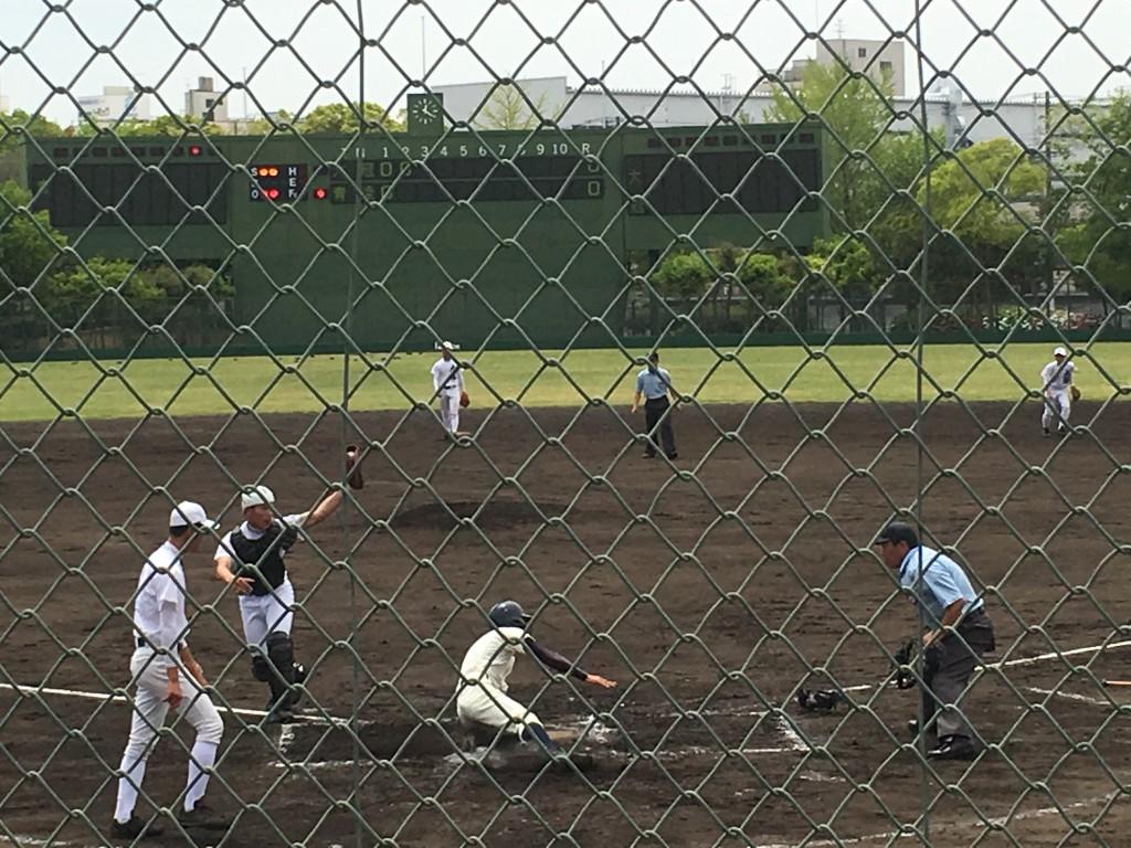 大阪青凌先制のチャンスもホームでタッチアウト!