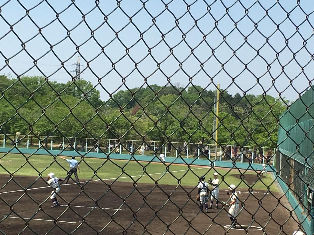 平塚選手のライトオーバーの二塁打