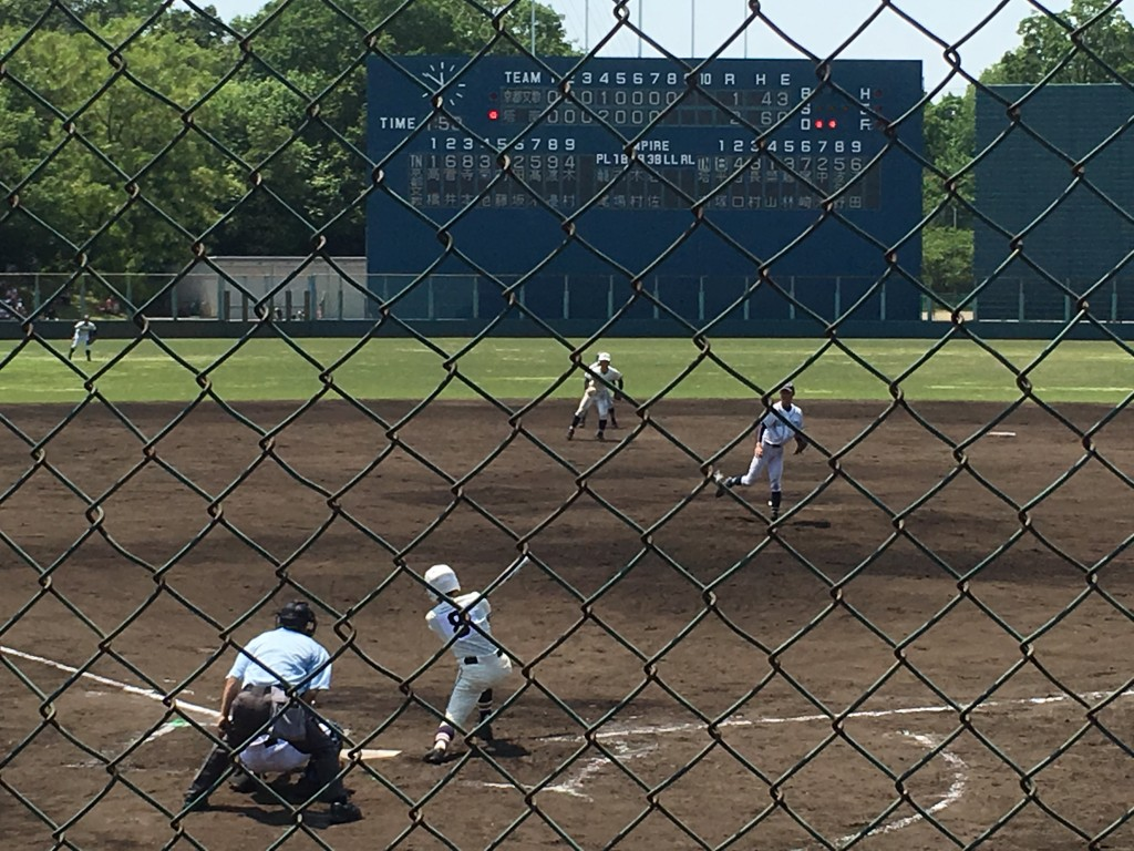 平塚選手、この日3打点目のタイムリーヒット