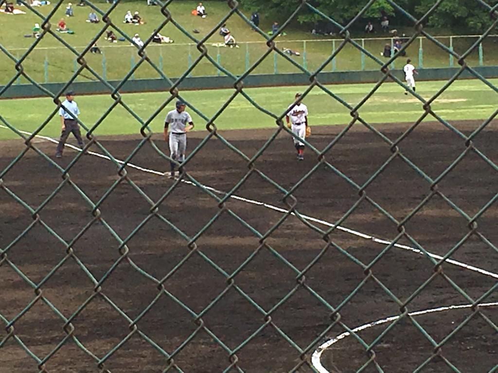 原田選手が三塁まで進むも無得点