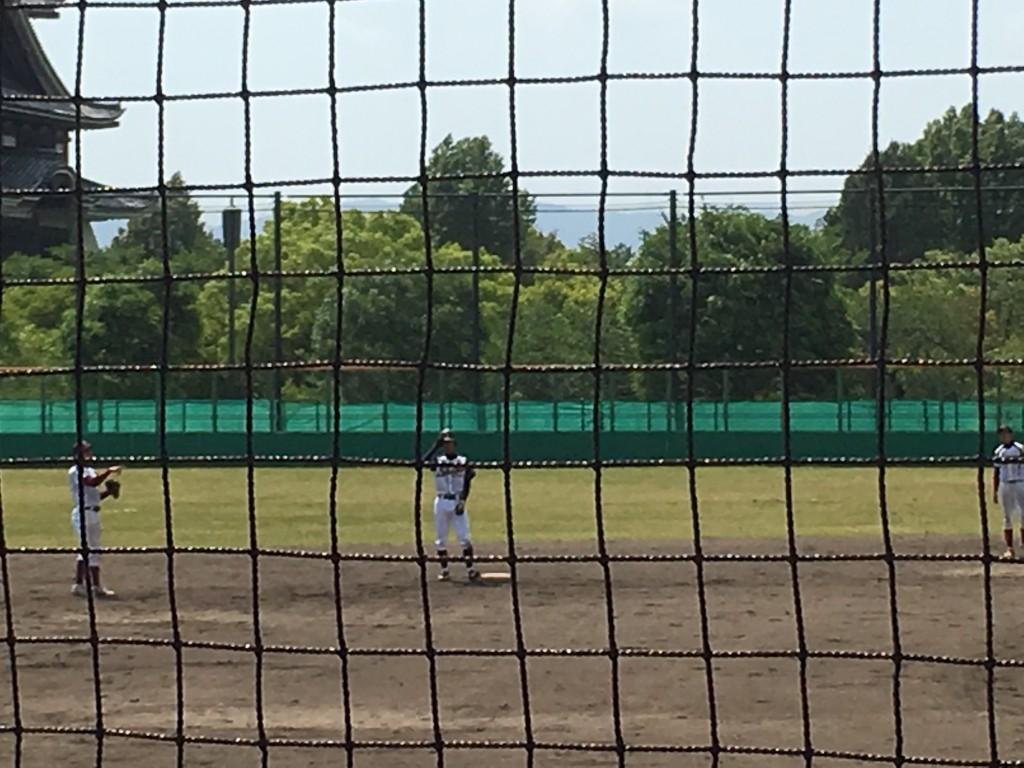 二塁打の鷲津選手