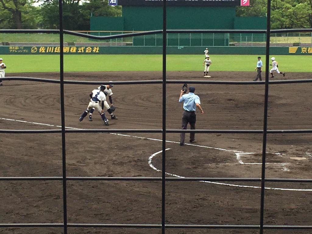 宮津橋本選手の捕手前のゴロはラッキーな内野安打