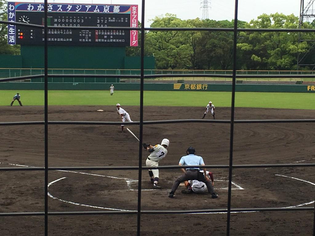 尾崎選手が8点目のタイムリーヒット