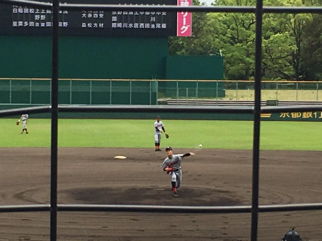 京都国際エース柳田投手