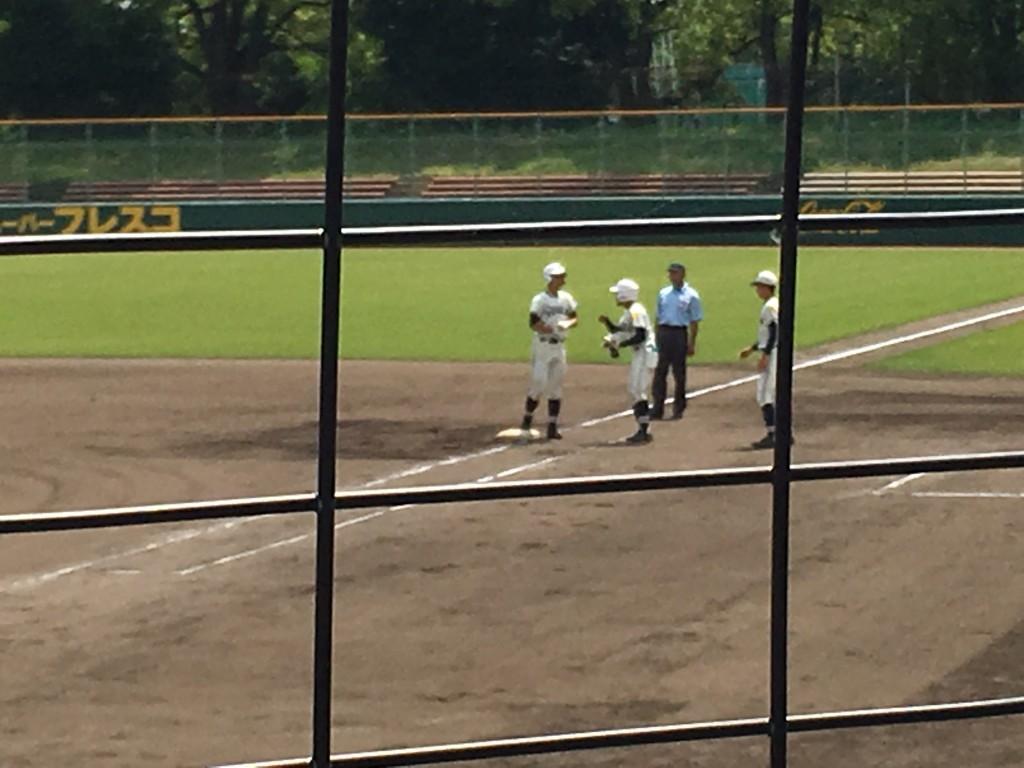 搭南初安打を放った波多野選手