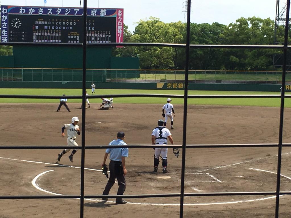 中澤選手が搭南2点目のホームイン