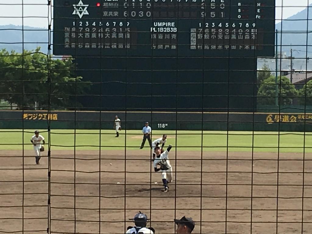 京都共栄2番手の岡田投手