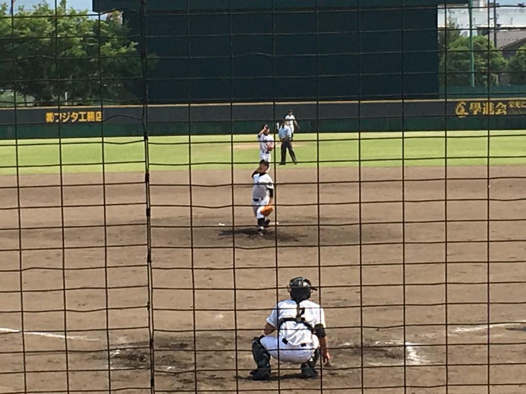 福知山4番手の鮫島投手