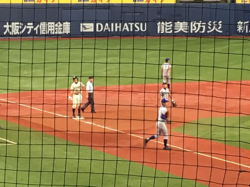 三塁打の上野山選手
