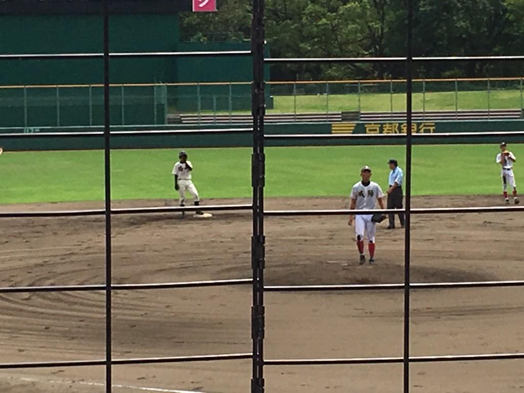 タイムリー2塁打の洛西・田中選手