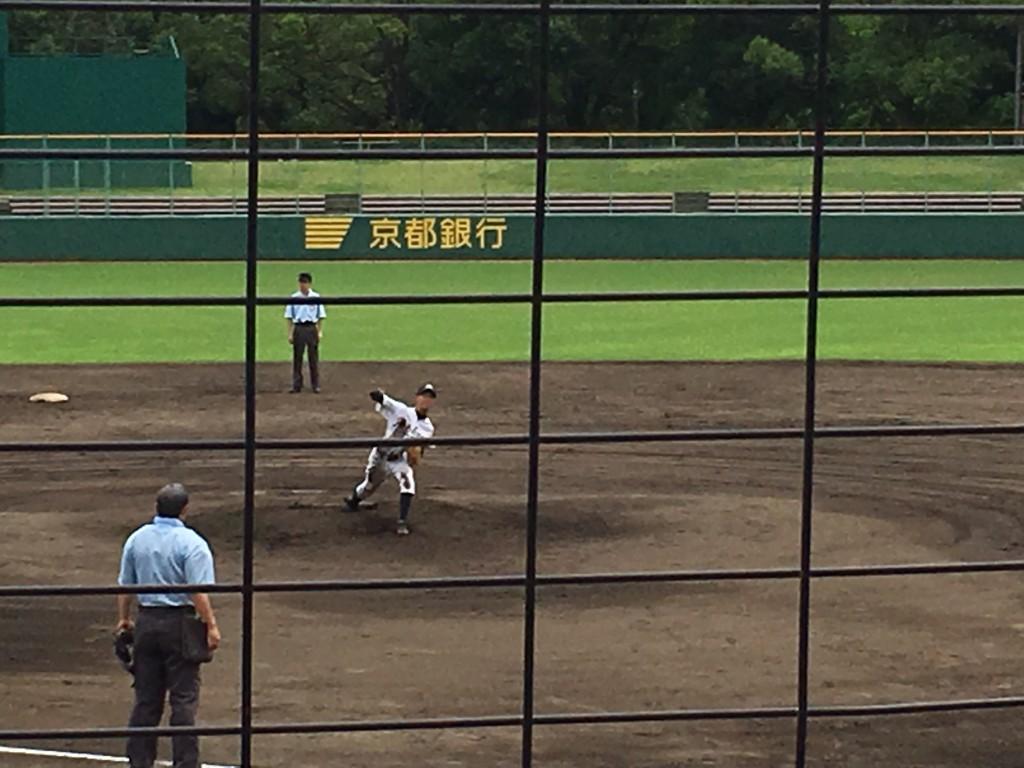 京教大附2番手の奥村投手