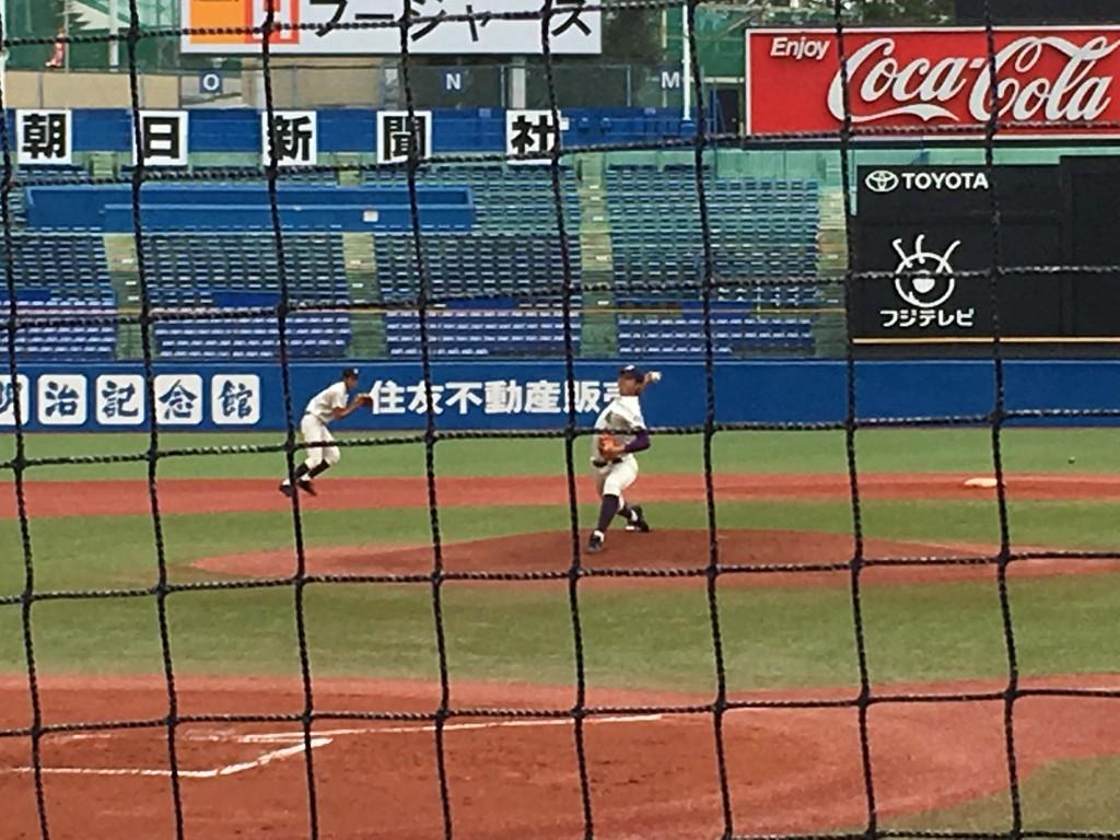 堀越先発の佐藤大投手