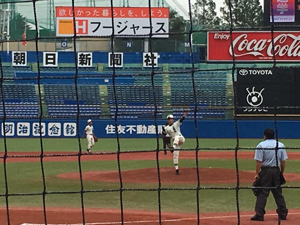 二松学舎大附属エースの大江投手
