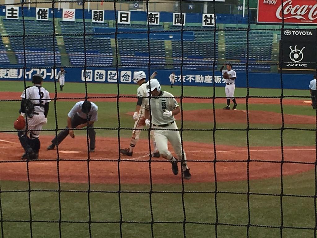 ソロホームランの永井選手