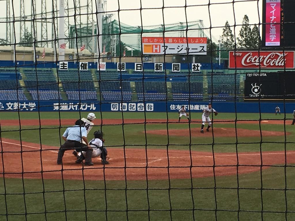 堀川選手のサヨナラヒット
