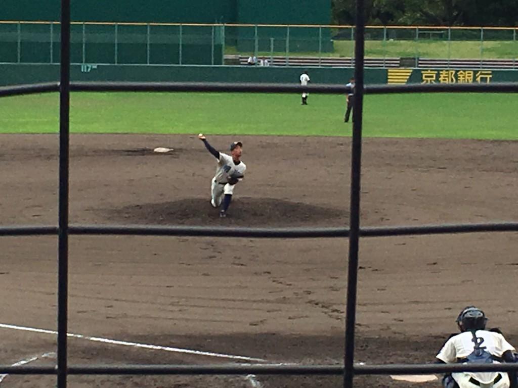 網野2番手の上田投手