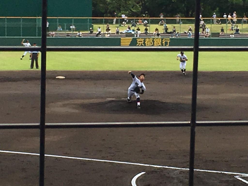 翔英先発のエース右腕・瀧野投手