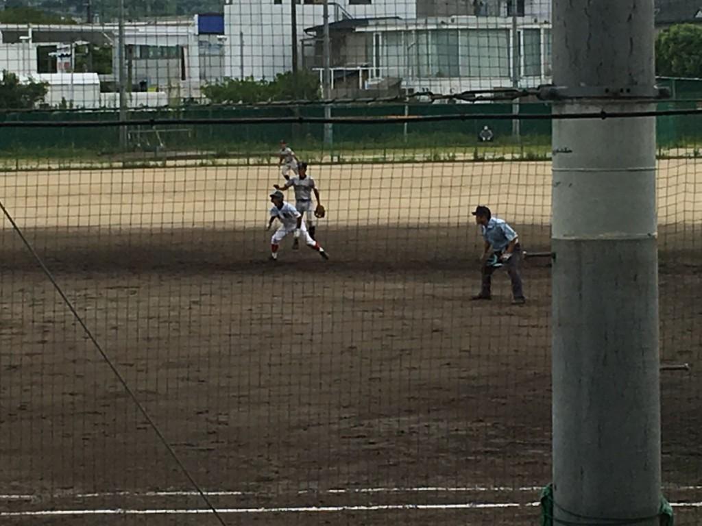 二塁打の城陽、背番号5