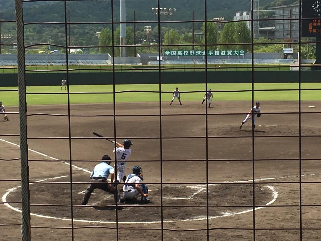 篠田選手のタイムリー3塁打