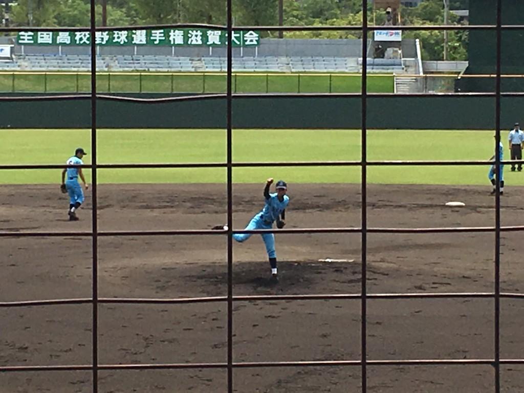 近江先発のエース京山投手