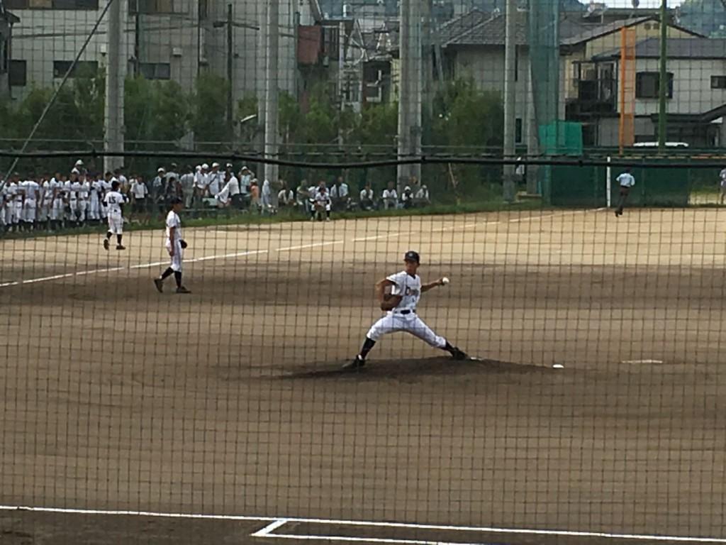 乙訓先発の富山投手