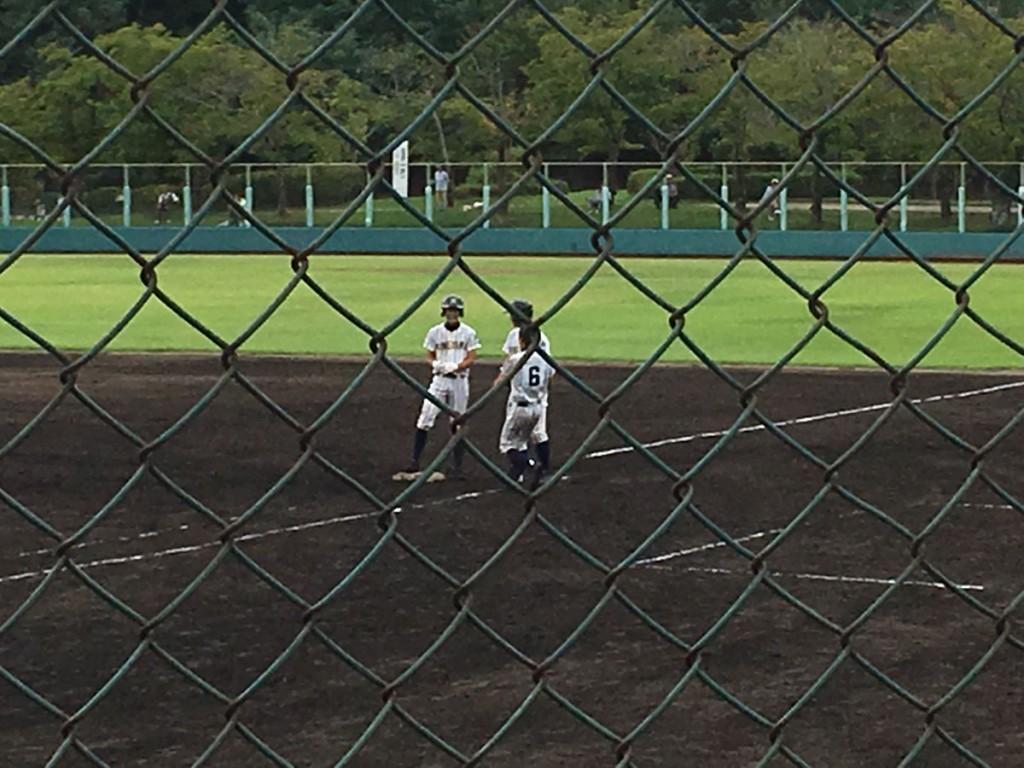 タイムリーヒットの中川選手