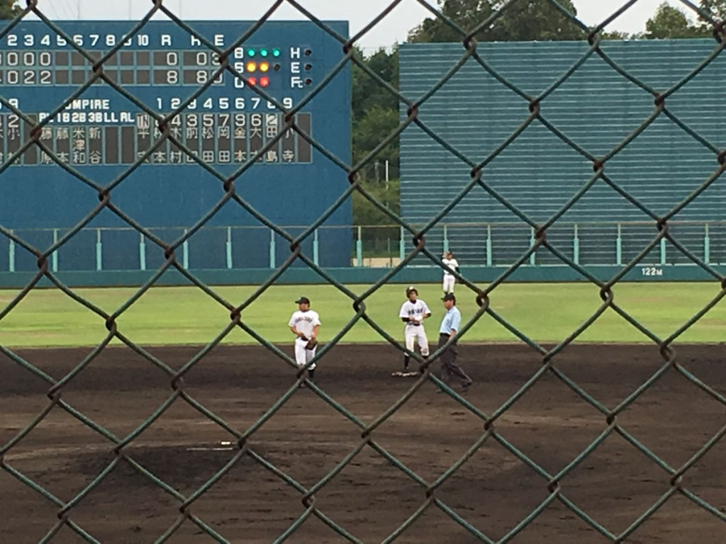 走者一掃のタイムリー二塁打を放った田島選手