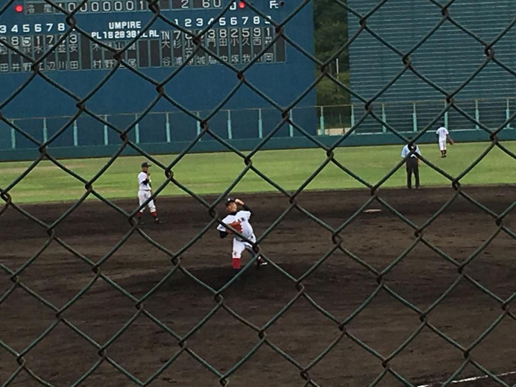 大谷3番手の森岡投手