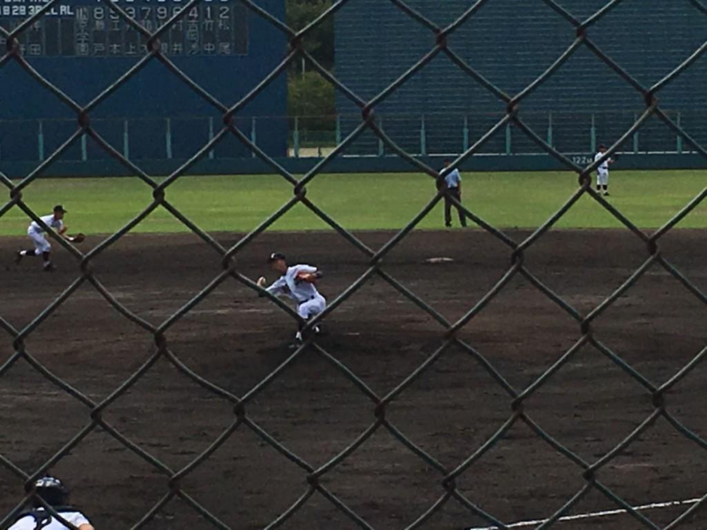 京都翔英、先発の高田投手