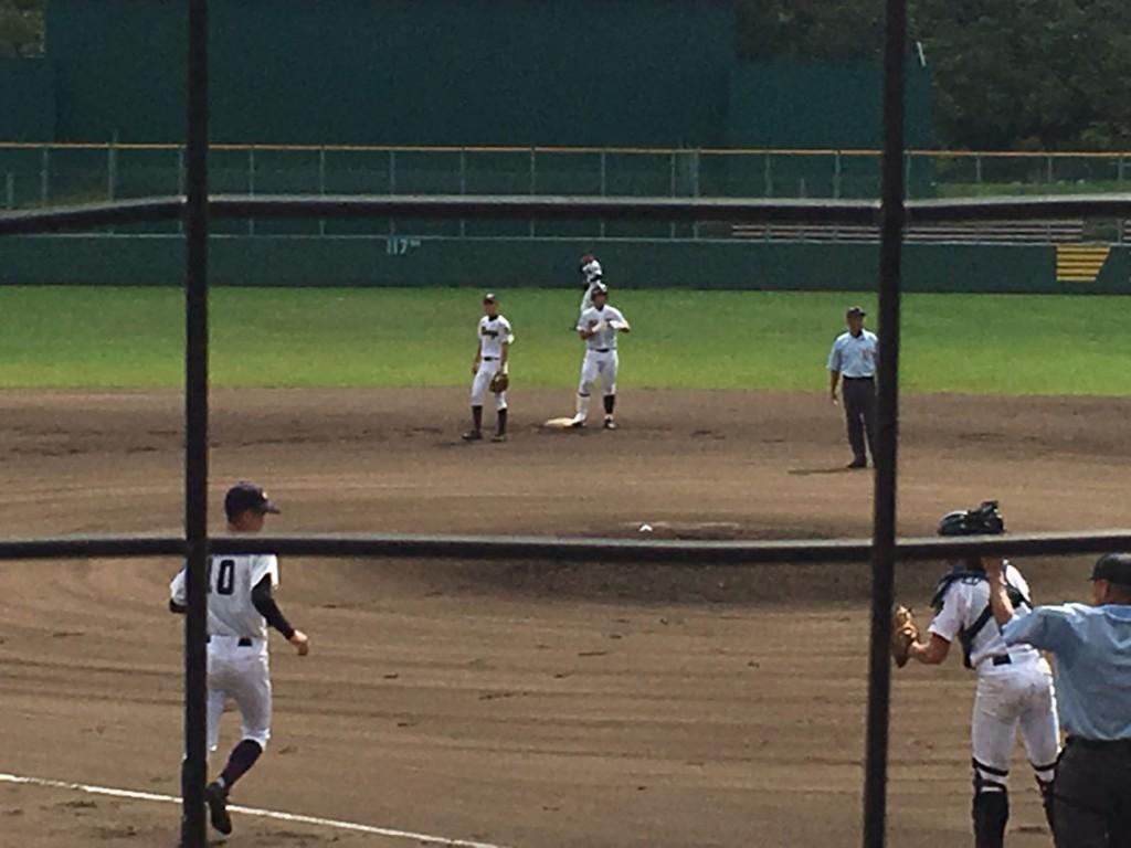 川本選手がタイムリー2塁打