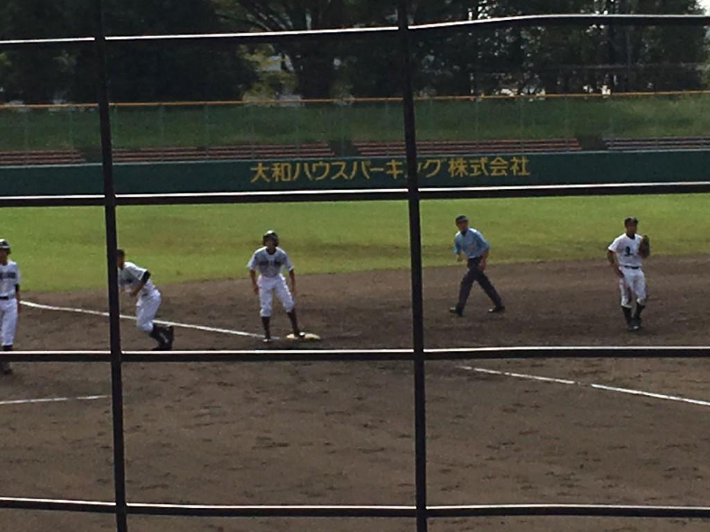 松本選手が3塁打