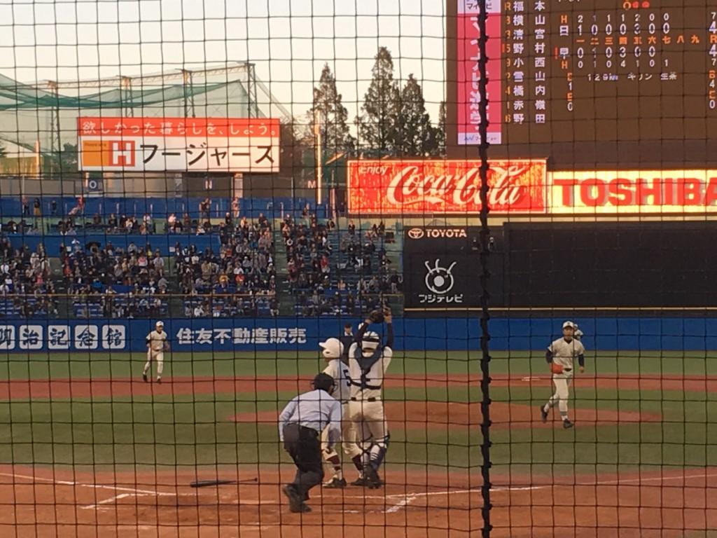 野村選手を三振に取った櫻井投手