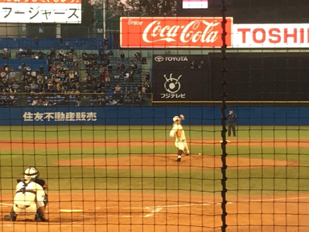 早稲田実業の3番手、石井投手